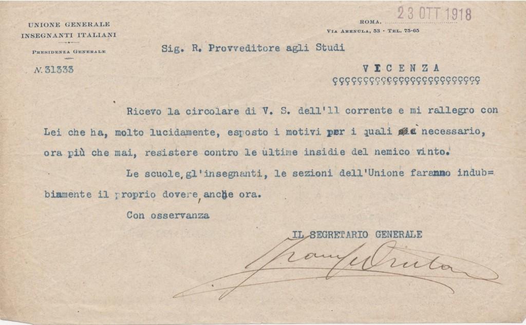 Bruzzo ottobre 1918 ASTERISCO