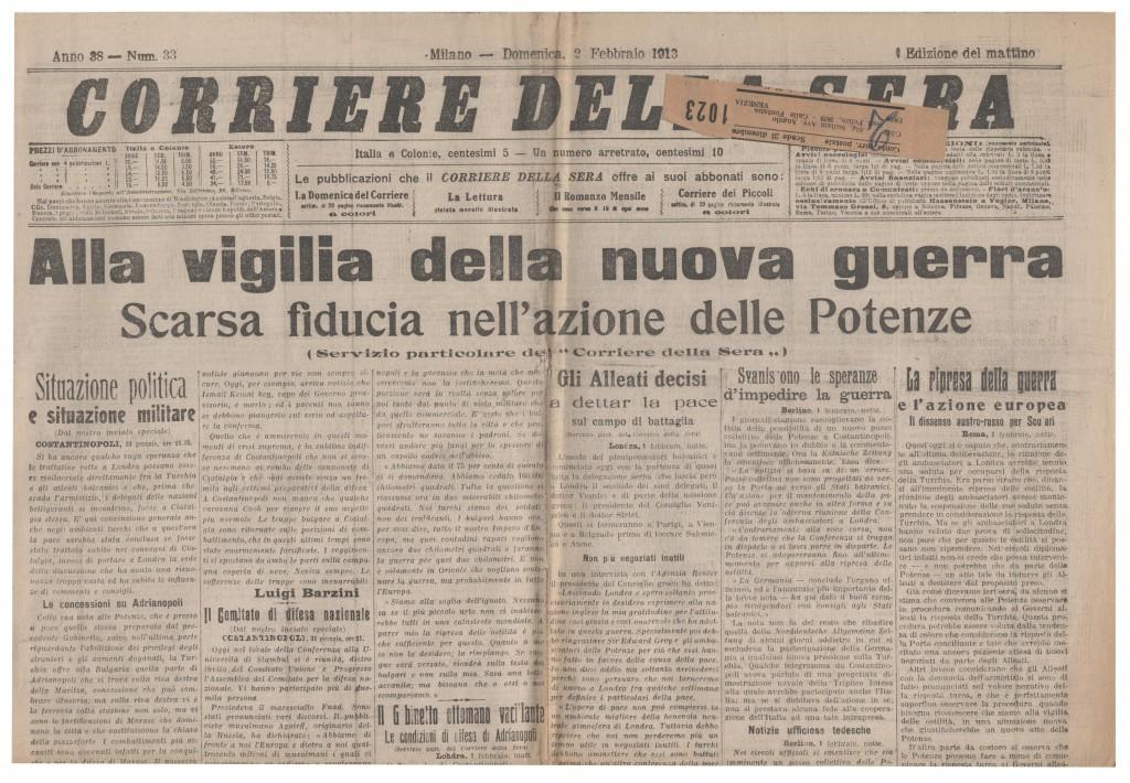 corriere 2 feb 1913