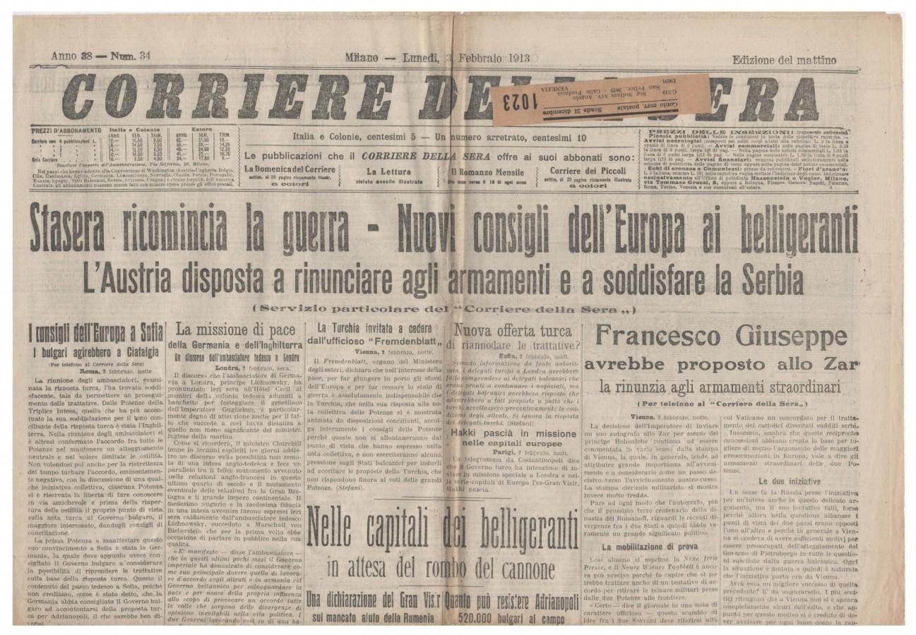 corriere 3 feb 1913