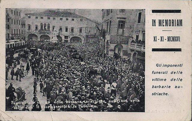 1916 FUNERALE STORICO vittime del bombardamento austriaco