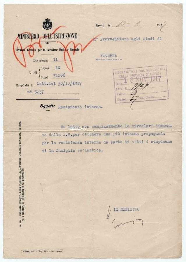 Bruzzo novembre 1917