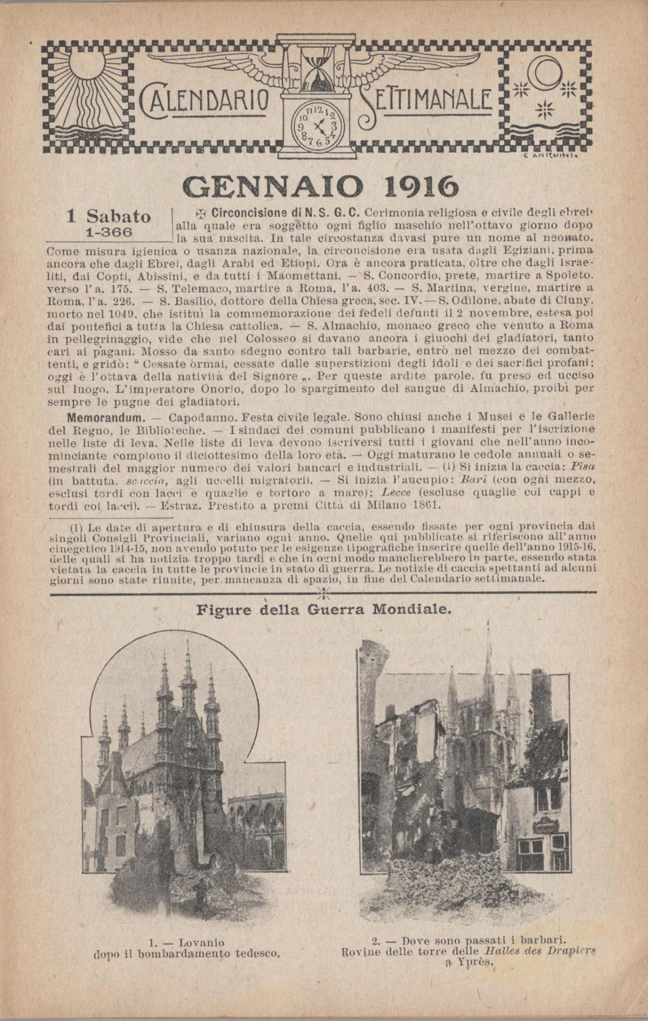 almanacco italiano 1916