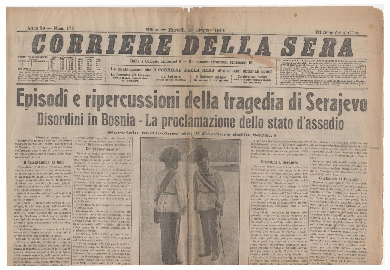 corriere 30 giu 1914