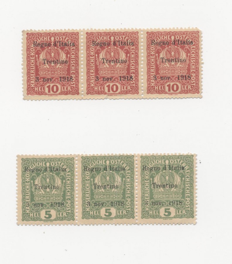 francobolli Trentino 3 nov 18